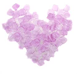 NYKKOLA 2000 Pcs Lavender Silk Artificial Rose Petals Wedding Ceremony Flower Scatter Tables Decorations(Light Purple)