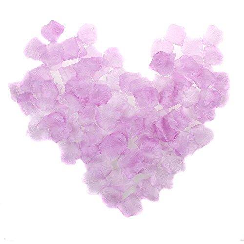 NYKKOLA 2000 Pcs Lavender Silk Artificial Rose Petals Wedding Ceremony Flower Scatter Tables Decorations(Light Purple)