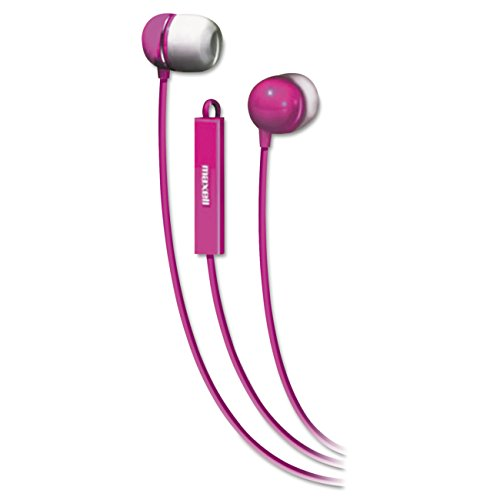 025215370540 - Maxell 190304 - IEMICPNK Stereo In-Ear Earbuds with Microphone  (Pink) carousel main 0
