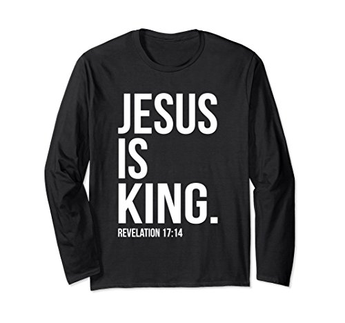 Christian Gospel Bible Sayings T-Shirts Large Black (Jesus King Of Kings)