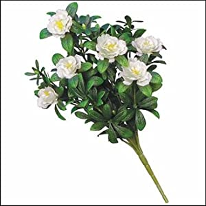 Windowbox Outdoor Artificial Cream Azalea Bush 55