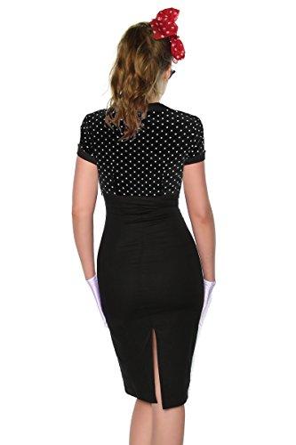 Pin Vintage im Stil Kleid Atixo schwarz Up qTwCFx0