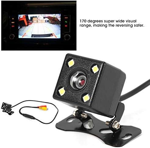 KIMISSカーリバースカメラバックアップカメラ、4LEDリアビューカメラナイトビジョン逆転駐車モニターCCD 170°カメラ