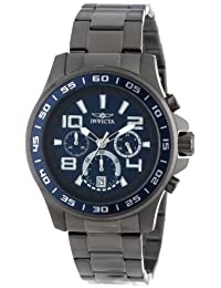Invicta Men's 14394 Specialty Chronograph Blue and Grey Dial Gunmetal Ion Plated Stainless Steel Watch