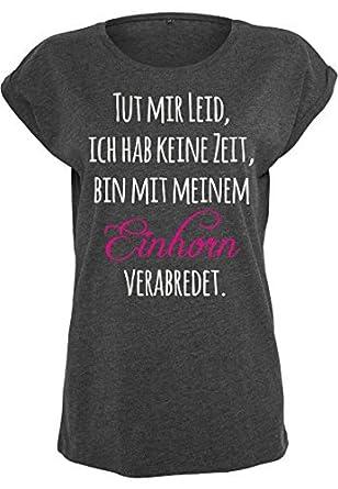 Livingstyle & Wanddesign Damen T-Shirt Extended Shoulder Tut Mir Leid, Ich Hab  Keine