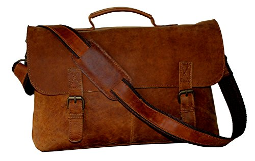 LUST Vintage Handmade Leather Crossbody Laptop Messenger Bag