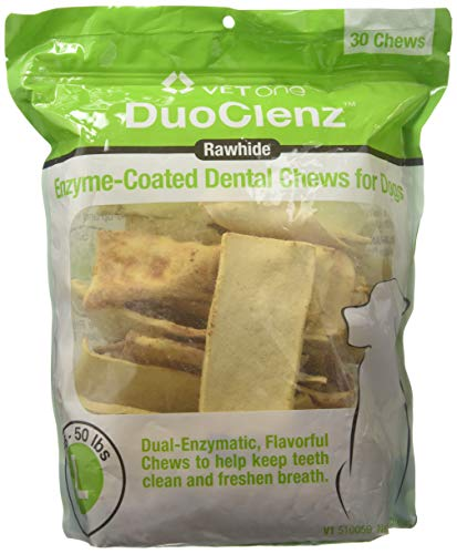 - Vet One DuoClenz Enzyme Coated Dog Dental Chews for Large Dogs - Veterinarian Formulated - 30 Count