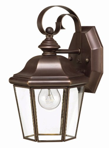 Hinkley 2420CB, Clifton Park Outdoor Wall Sconce Lighting, 60 Total Watts, Bronze