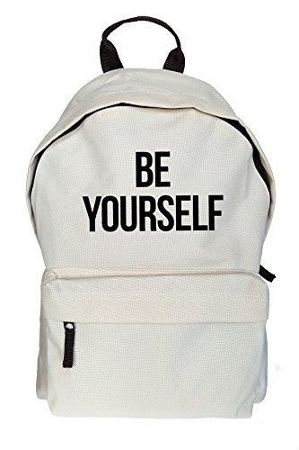 Be Yourself Drucken Rucksack Gelegenheits Beige Tasche qDJ42cH