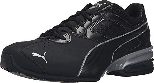 PUMA Men's Tazon 6 FM Puma Black/ Puma Silver Running Shoe - 10 D(M) (Mens Sports Shoes)