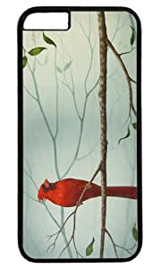 Cardinal Bird Masterpiece Limited Design PC Black Case for iphone 6 by Cases & Mousepads