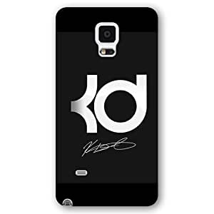 Onelee(TM) - Customized Black Frosted Samsung Galaxy Note 4 Case, NBA Superstar Oklahoma City Thunder Kevin Durant Samsung Galaxy Note 4 Case