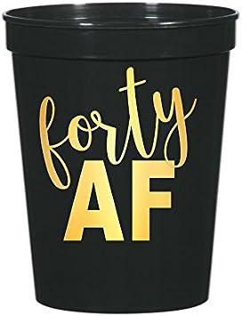 Amazon.com: Cuarenta AF tazas, 40 AF tazas, 40th fiesta de ...