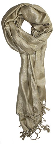 Shimmer Scarf (Ted and Jack - Dreams of Stardom Sparkling Metallic Pashmina Scarf in Gold)