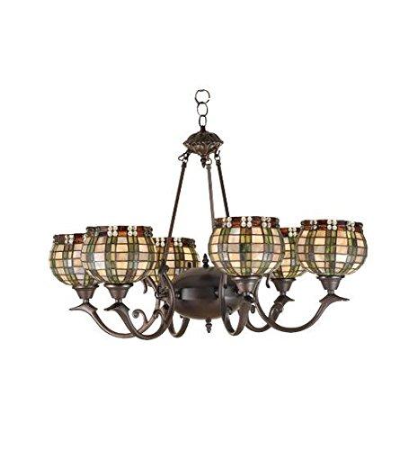 Meyda Tiffany 27404 Jeweled Basket 6 Light Chandelier, 32