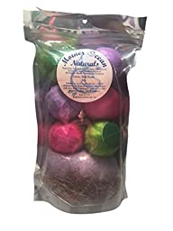 Bath Bomb Fizzies & Sea Salt Gift Pack - Special Ultra Lush Moisturizing Skin Treatment and Muscle Relaxing Formula, 100% Guaranteed (Bath Trio-Lavender, Eucalyptus Spearmint & Grapefruit Bergamot)