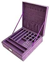 Pu Leather Jewelry Box Organizer Display Storage Case with Lock