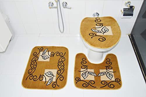 Royal Luxury Jogo de Banheiro Rayza 102-3 Caramelo