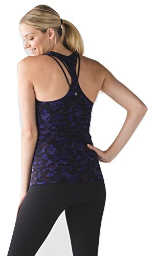 Lululemon Cool Racerback II - Mini Hounds Camo Emperor Blue Black - Top Running Lululemon