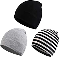 XIAOHAWANG Baby Beanies Unisex Soft Toddler Cotton Hats Slouchy Infant Skull Caps Cool