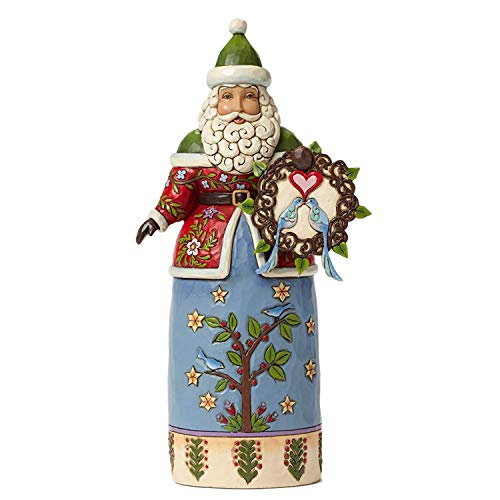 Enesco Jim Shore Williamsburg Santa with Wreath (Williamsburg Christmas Wreaths)