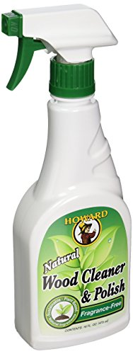Howard WC0012 Natural Wood Cleaner and Polish, 16-Ounce, Fragrance-Free