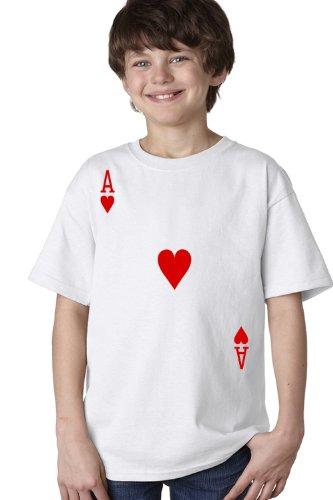 ACE OF HEARTS Youth T-shirt / Card Costume Tee Shirt, Magic Trick Tee