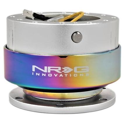 NEO Chrome Ring Orange NRG 2.0 Gen Steering Wheel Quick Release Hub