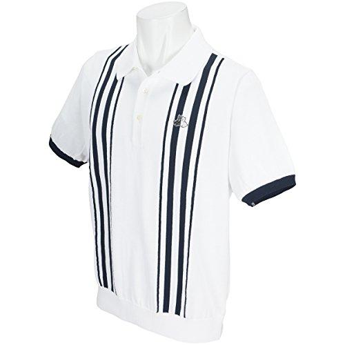 半袖ポロセーター メンズ ブラック&ホワイト Black&White 2018 春夏ゴルフウェア LL(LL) ホワイト(10) b2718gske