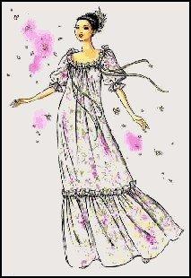 Hawaiian Muumuu Dress with Gathered Neckline Sewing Pattern #200
