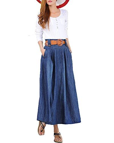 A Jean Denim Genou en Ladies Dlav Genou Rock Crayon Denim Jupe Jupe 1 Jean Jupe Bleu Couverte Boutique Denim Ligne ZASqgwF