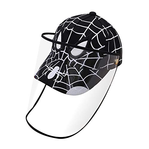 Face Shields Anti-spitting Hat Kids Baseball Cap with Detachable Shiled Dustproof Cover for Outdoor Protection