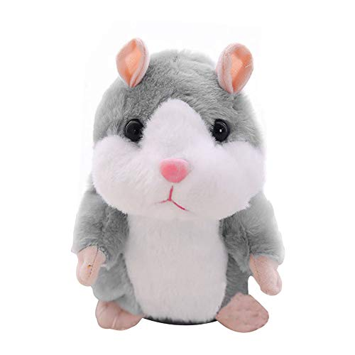(KateDy Talking Hamster Repeats What You Say, Electronic Pet Talking Plush Toy Mimicry Talking Hamster Toys, Great Birthday Gift Xmas)