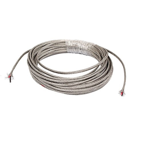 - uxcell 13Ft Silver Tone Metal K Type Thermocouple Extension Wire
