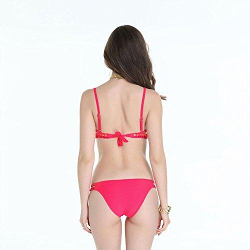 SHISHANG Señoras traje de baño damas división traje de baño Europea y americana nuevo tamaño grande señoras traje de baño multicolor traje de baño bikini traje de baño watermelon red