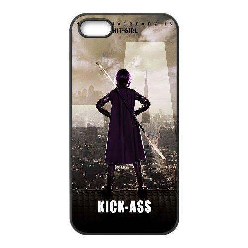 O2S45 Hit Girl kick ass A2Z2MN coque iPhone 4 4s cellulaire cas de téléphone couvercle coque noire XC2PBK7PJ