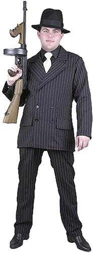 Gangster Adult Costume - Large (Best Bonnie And Clyde Costumes)