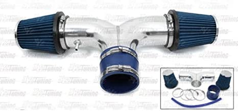 Short Ram Air Intake Kit BLUE Filter for 00-02 Durango Dakota 4.7L V8 Dual Twin