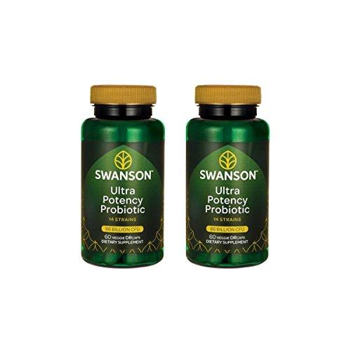 Swanson Ultra Potency Probiotic Digestive Health Immune System Support 66 Billion CFU Prebiotic NutraFlora scFOS 60 DRcaps Veggie Capsules (Caps) (2 Pack) by Swanson (Image #7)