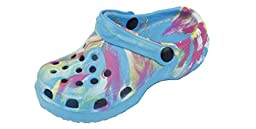 New Toddler\'s Blue Tie Dye Garden Shoes Clog Sandals Size 8