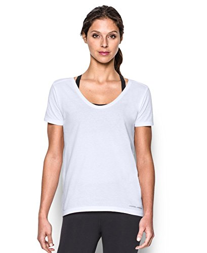Under Armour Women's UA Microthread Scoop V-Neck Large White
