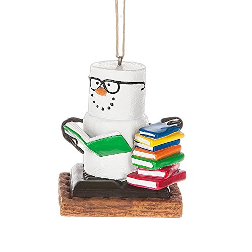 S'Mores Book Lovers Book Nerd Christmas Ornament