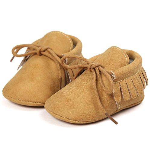 Zapatos de bebé, Switchali zapatos bebe niña Princesa verano Recién nacido Niñas Cuna Suela blanda Antideslizante Zapatillas Bebé niño borla vestir casual Amarillo