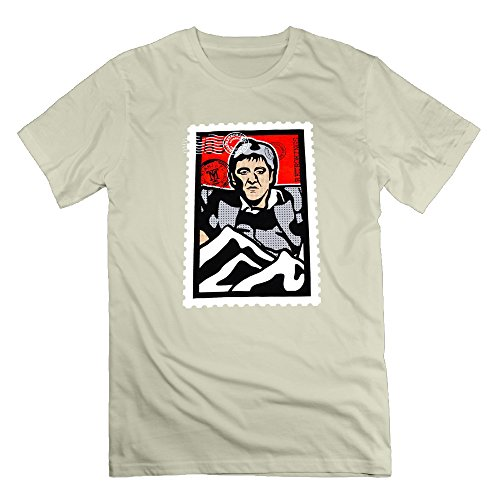 Retro Kings Scarface Stamp Natural Men's Sport T Shirt For Men Size M