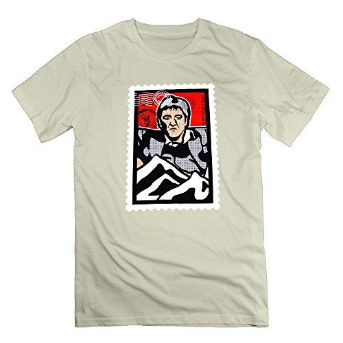 Retro Kings Scarface Stamp Natural Men's Sport T Shirt For Men Size - Merchandise Sanders Deion