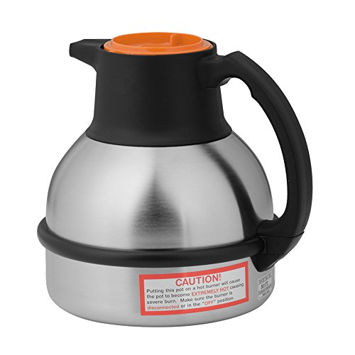 BUNN 36252.0001 Zojirushi 64 oz. Stainless Steel Deluxe Thermal Carafe with Orange Top