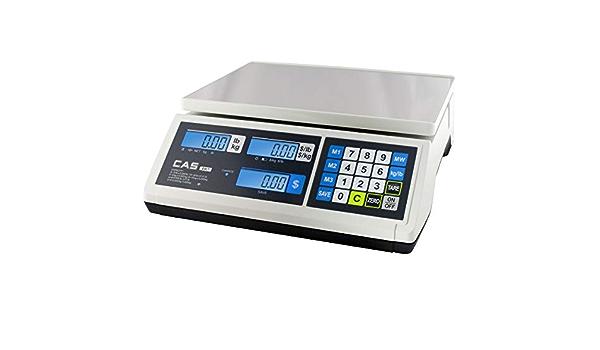 30lb Capacity 0.01lb Resolution CAS AP1-30 Digital Price Computing Scale