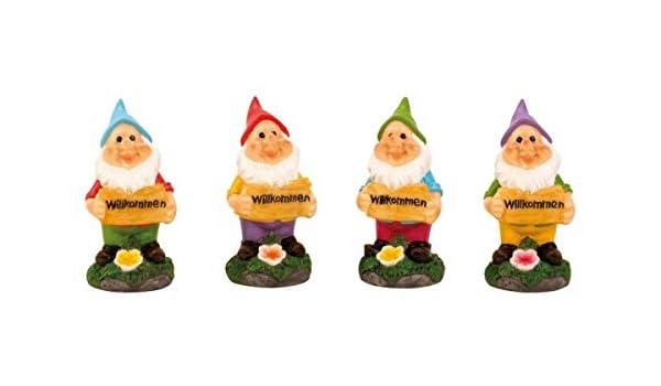 IKO - Enano de jardín (4 enanitos a un precio, 4 pequeños gnomos): Amazon.es: Hogar