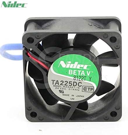For Nidec TA225DC M33497-16 6025 60mm 6cm DC 24V 0.14A server inverter axial cooling fans