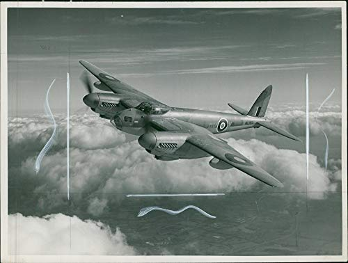 Mosquito Engine Twin (Vintage photo of de Havilland Mosquito Combat aircraft:)